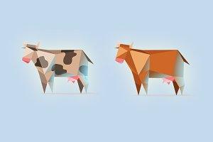 vector cows