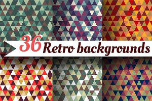 36 triangular retro patterns