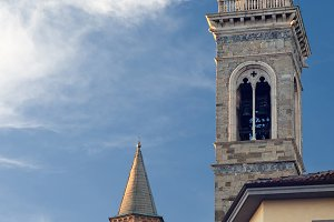 The church in Bergamo, Italy