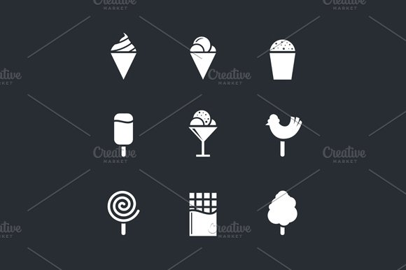 Sweets and ice cream