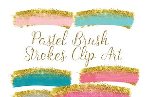 Gold brush strokes clip art
