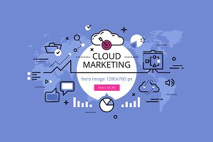 Cloud Marketing hero banners