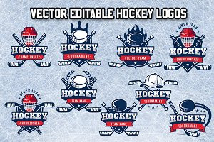 Vector Editable Hockey Logos