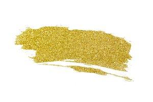 Gold glitter paint