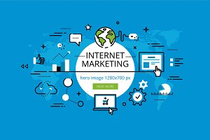 Internet Marketing hero banners