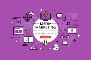 Media Marketing hero banners