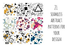 21 seamless abstract patterns