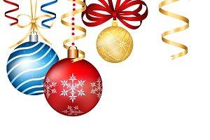 Vector Christmas balls toys