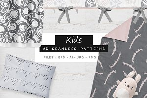 Kids Seamless Patterns