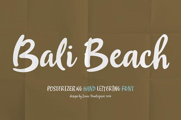 Bali Beach in Script Fonts