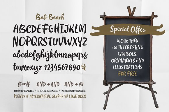 Bali Beach in Script Fonts - product preview 1