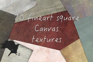 20 fineart Canvas Textures