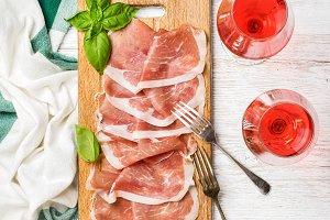 Prosciutto di Parma ham slices