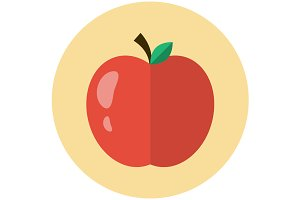 Apple icon flat