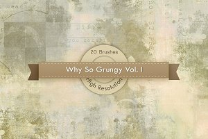 Why So Grungy V.1 Photoshop Brushes