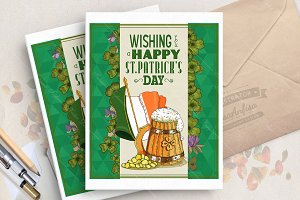Happy Saint Patrick's day poster