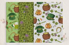 SetSt. Patrick day seamless patterns