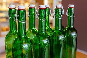 Empty Green Bottles