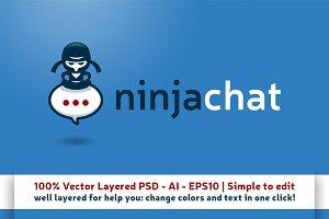 Ninja Chat Logo Mascot