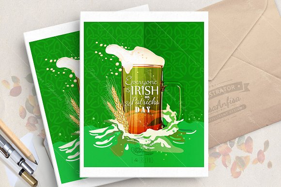 Happy St. Patrick's day poster - Illustrations