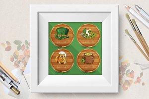 Happy St.Patrick's day coasters