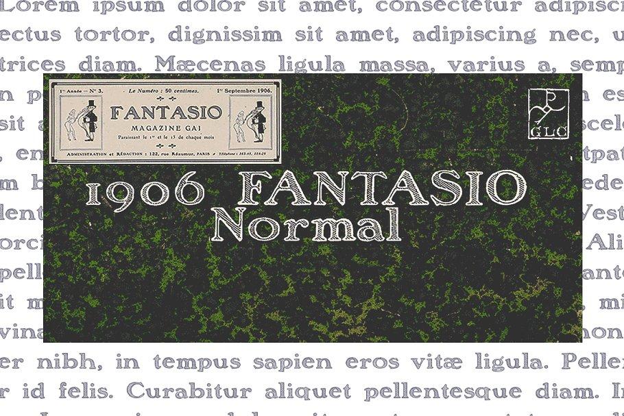 e6fc9166df22 1906 Fantasio Normal OTF ~ Display Fonts ~ Creative Market