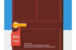 page 404 design. vector+jpg