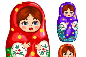 Traditional matryoshka doll