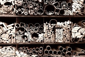 Tubes of different sizes and shapes