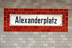 Alexanderplatz subway sign
