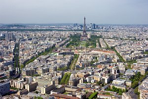 Panorama of Paris with Eiffel Tower