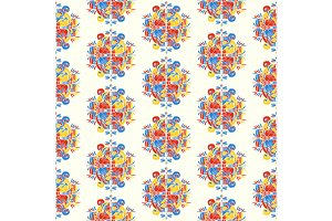 Abstract seamless pattern on white
