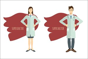 Super Doctor. Two characters.