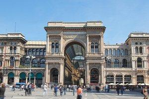 Tourists in Piazza Duomo Milan