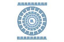 Circle ornament greek style border