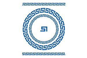 Circle ornament greek style border