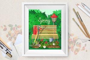 Spring garden poster.