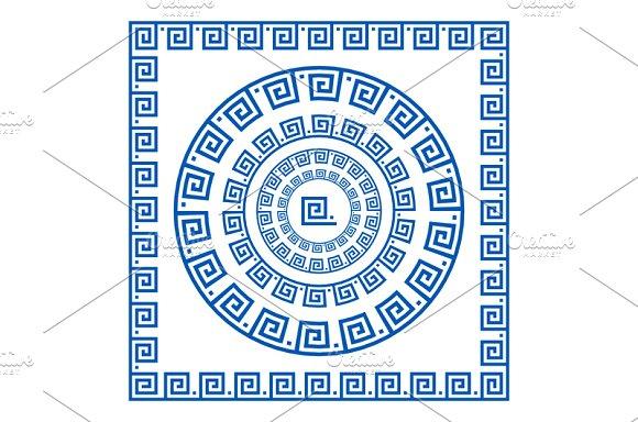 ornament greek style border