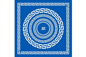 greece ornament greek style border