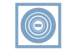 greece ornament greek style border