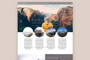 Pangrango Web PSD Template