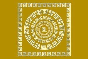 greece ornament greek gold border
