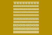 Gold Meander Patterns vector art