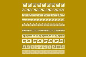 Gold Meander Patterns vector art