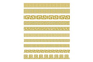 greece ornament greek gold border
