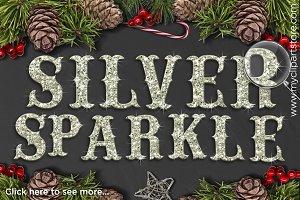 70% OFF - Silver Sparkle Alphabet