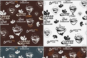Hand draw Coffee Seamless Pattern
