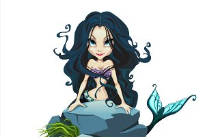 Mermaid girls, fictional character