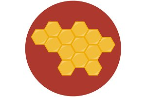 Honeycombs icon flat