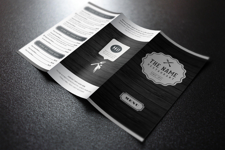 Elegant Food Menu 7 ~ Brochure Templates ~ Creative Market